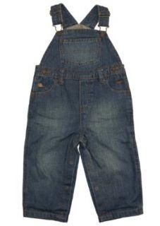 Infant Baby Boy Blue Overalls Jeans w/ Snaps  Greendog 18M