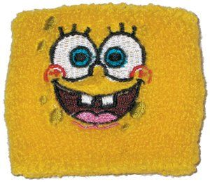 Spongebob Squarepants Face Yellow Wristband *SALE* Sports