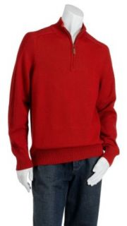 Naturalife Mens Cotton Quarter Zip Sweater, Persimmon