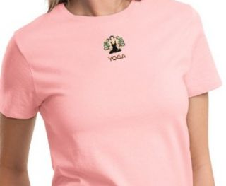 Ladies Yoga T shirt   Embroidered Patch Lotus Tee