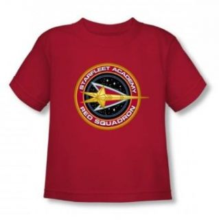 Star Trek   Red Squadron Toddler T Shirt In Red: Clothing