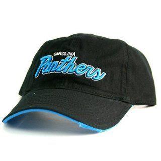 NFL Carolina Panthers Black Tattered Bill Baseball Hat