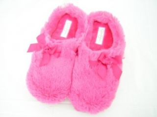 Simpson Fluffy Bow Slippers Pink Size Large (Shoe Size 8 9) Shoes