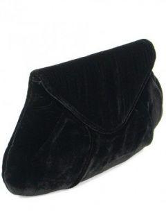 Lauren Merkin Handbag   Black Velvet Lotte Clutch