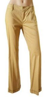 BCBG Girls Womens Bisquit Cotton Spandex Cuffed Pants 6