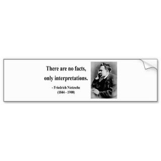 Nietzsche Quote 9b Bumper Sticker