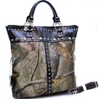 Realtree ® CAMOUFLAGE STUDDED ACCENT TOTE Handbag