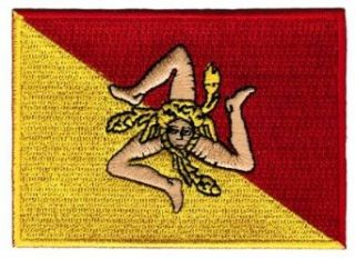 Sicily Italy Flag Embroidered Patch Sicilian Italian Iron