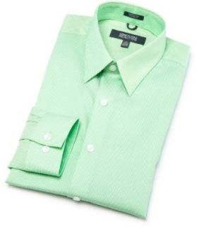 Cole Reaction Mens Fitted Dress Shirt, Green, 17.5/32 33 Clothing