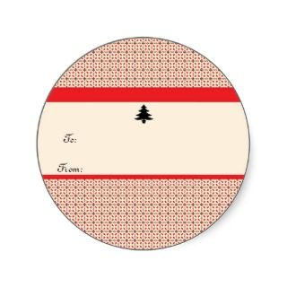 Retro Christmas Gift Sticker