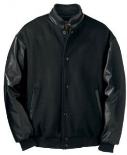 Big Mens Melton Leather Jacket with Stand Collar   Premium