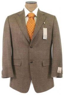 Joe Joseph Abboud Mens 2 Button Brown Wool Sport Coat