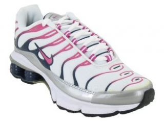 NIKE SHOX FADE RUNNING SHOES 7 (WHITE/PINK MET SILVER MIDNIGHT) Shoes