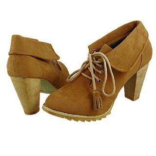 Vamp Plaid Lining Lace Up High Heel Ankle Boots Brown EU 38 Shoes