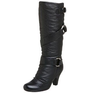 Steve Madden Womens Lorryy Boot,Black Leather,5 M Shoes