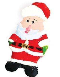 2.75 Classic Santa Claus Christmas Brooch Tin Pin