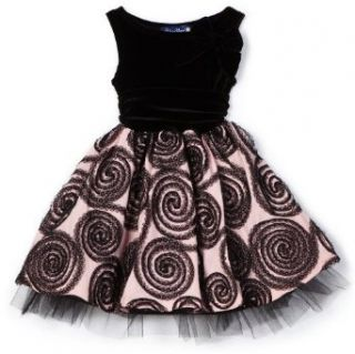 Blue Pearl Girls 2 6x Sleeveless Jackie Dress, Pink/Black