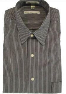 Geoffrey Beene Mens Wrinkle Free Shirt Purple Stripe 17