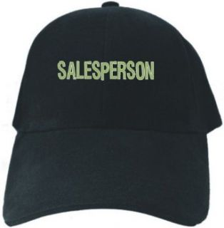 Caps Black  Salesperson Fun Embroidery  Occupations