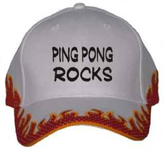 Ping Pong Rocks Orange Flame Hat / Baseball Cap Clothing