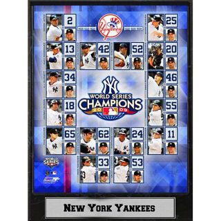 2009 New York Yankees World Series Championships 9x12 inch Plaque