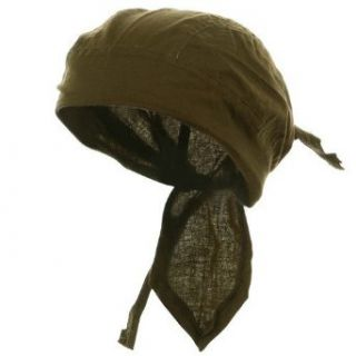 Solid Color Series Head Wrap / olive drab W13S13F