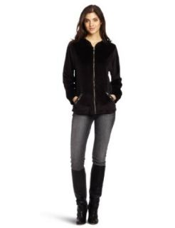 Alfred Dunner Womens Hooded Zip Jacket Clothing