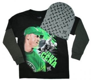 WWE John Cena Long Sleeve Shirt with Beanie Hat (XXL (18