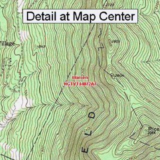USGS Topographic Quadrangle Map   Warren, Vermont (Folded