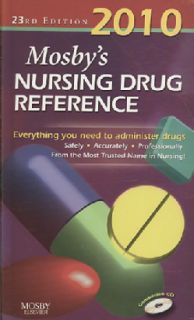 Mosby`s 2010 Nursing Drug Reference Text + E book Package (Paperback