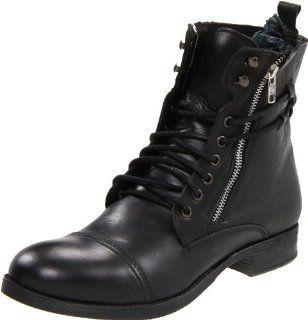 Steve Madden Mens Guantlet Boot,Black Leather,8.5 M US Shoes