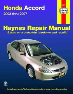 Repair Manual Honda Accord 2003 2007 (Paperback)