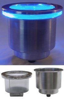 LED Cup Holder   Battery Operated   Blue Sports