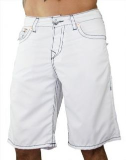 New True Religion Mens PCH White Surf Board Shorts Trunks
