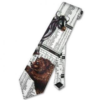NeckTie Bulls & Bears Stock Market Mens Neck Tie