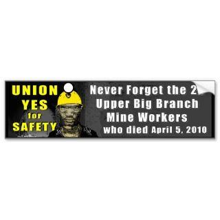 Mine Workers Bumper Sticker