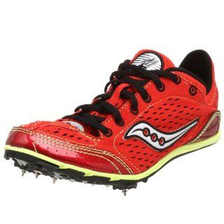 Saucony Womens Endorphin LD Running Shoe,Red/Green,7 M Shoes