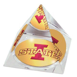NCAA Iowa State Cyclones Crystal Pyramid with Logo Image