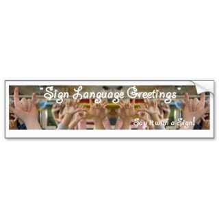 SL Greetings Bumper Sticker