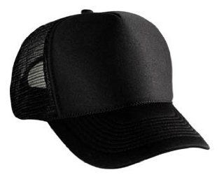 Blank Plain Mesh Trucker Hat/ Cap Baseball   Black Sports