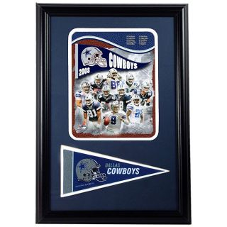 Dallas Cowboys 2008 Framed Print with Mini Pennant