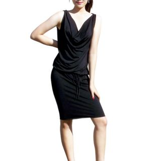 Evanese Womens Sexy Cowl neck Dress