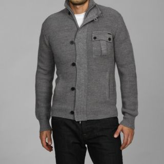 Antony Morato Mens Slim Fit Stand Collar Wool Blend Sweater