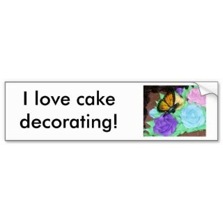 love cake decorating Bumper Sticker
