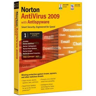 Symantec Single User License Norton Antivirus 2009