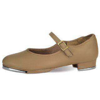 Girls Tan Single Strap Non Skid Tap Shoes Size 7 3 Danshuz Shoes