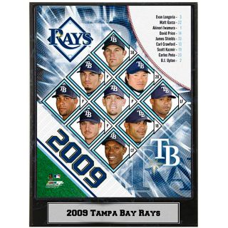 2009 Tampa Bay Rays 9x12 inch Photo Plaque