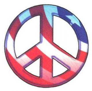 Patriotic USA Flag Peace Sign Temporary Body Art Tattoos 2