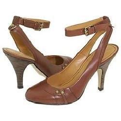 Nine West Zoello Brown Leather Pumps/Heels