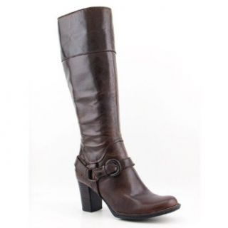 Size 11 Brown Boots Knee Leather Fashion   Knee High Boots Shoes